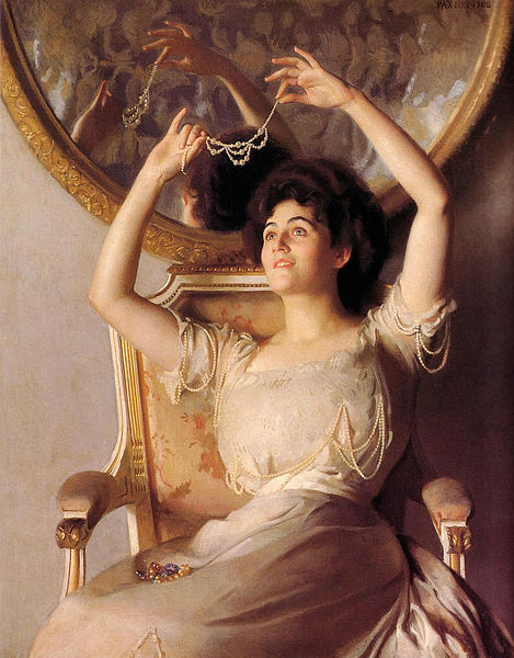 469px-William-McGregor-Paxton-The-String-of-Pearls-Oil-Painting-min