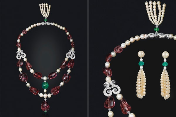 spinel necklaces-earrings